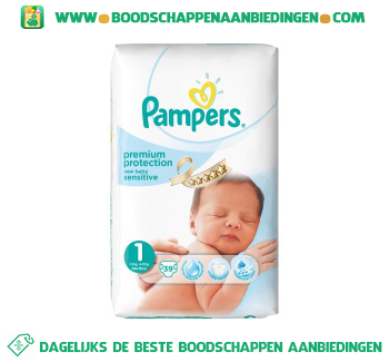 Pampers New baby sensitive luiers maat 1 2-5 kg aanbieding