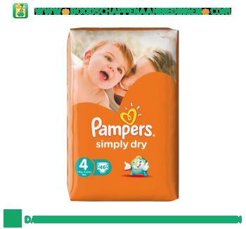 Pampers Simply dry luiers maat 4 (maxi) 7-18 kg aanbieding