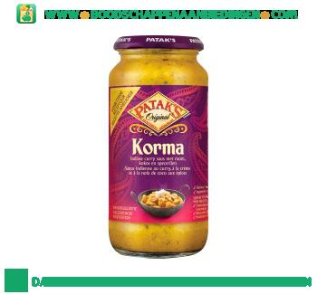 Pataks Korma curry saus aanbieding