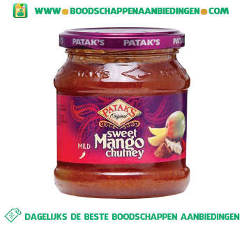 Pataks Mango chutney aanbieding