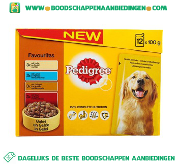 Pedigree Pouch adult favorites aanbieding