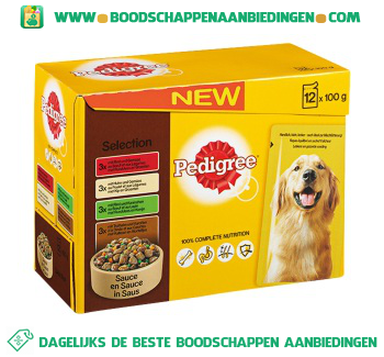 Pedigree Pouch adult selection aanbieding