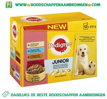 Pedigree Pouch junior aanbieding