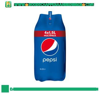 Pepsi Cola regular 4-pak aanbieding