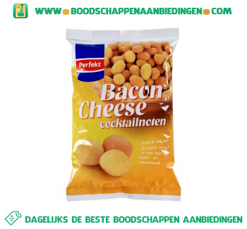 Perfekt Bacon & cheese cocktailnoten aanbieding