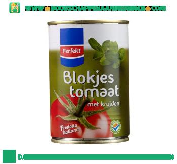 Blokjes tomaat met kruiden aanbieding