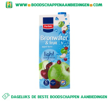 Bronwater en fruit appel & kers light aanbieding