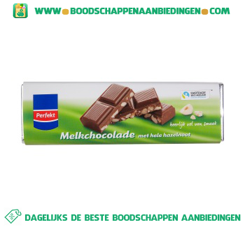 Perfekt Chocoladereep hazelnoot fairtrade aanbieding