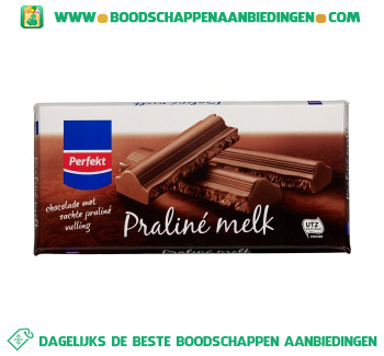 Perfekt Chocoladereep praliné melk aanbieding