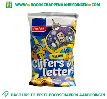 Perfekt Cijfers & letters chips aanbieding