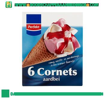 Perfekt Cornets aardbei aanbieding