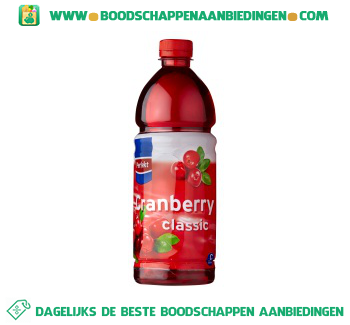 Cranberry drink aanbieding