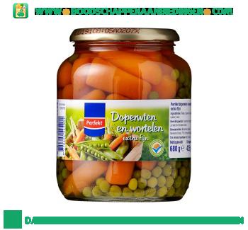 Perfekt Doperwten & wortelen extra fijn aanbieding