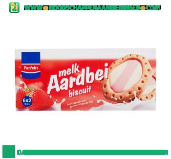 Perfekt Duomelk biscuit aardbei aanbieding