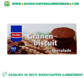 Granenbiscuit chocolade aanbieding