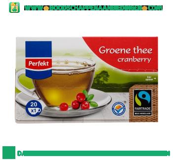 Perfekt Groene cranberry thee 1-kops aanbieding