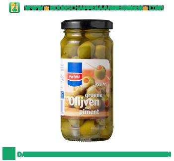 Perfekt Groene olijven met piment aanbieding