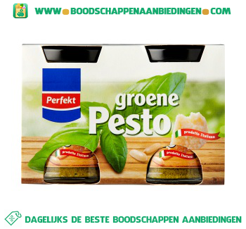 Perfekt Groene pesto duopak aanbieding