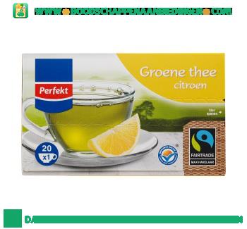Perfekt Groene thee citroen 1-kops aanbieding