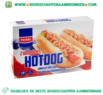 Perfekt Hot dog 2-pak aanbieding
