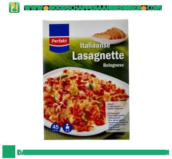 Perfekt Italiaanse lasagne bolognese maaltijdpakket aanbieding