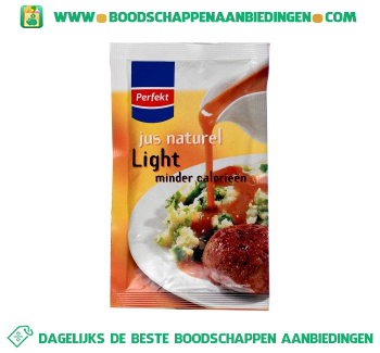 Jus naturel light aanbieding