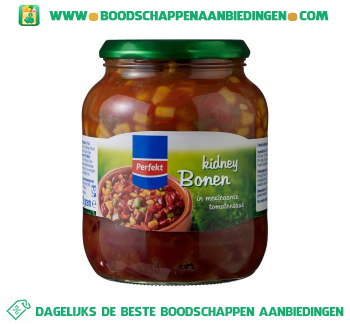 Perfekt Kidneybonen in chilisaus aanbieding