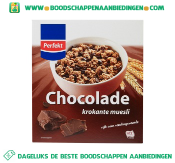 Perfekt Krokante muesli chocolade aanbieding