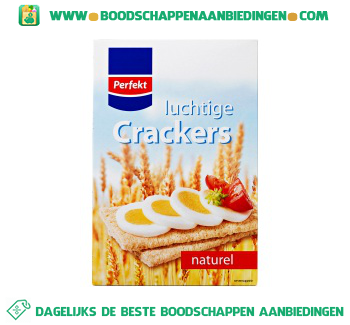Luchtige crackers naturel aanbieding