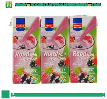 Rood fruit yoghurtdrink 6-pak aanbieding