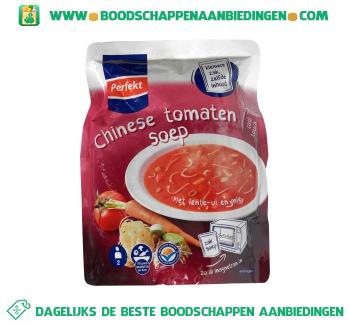 Perfekt Soep in zak Chinese tomaten aanbieding