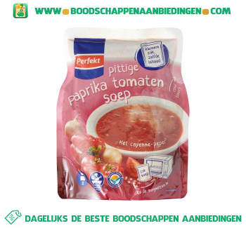 Perfekt Soep in zak pittige paprika tomaat aanbieding