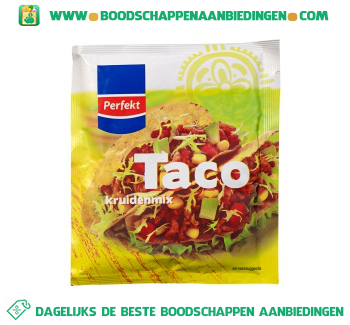 Perfekt Taco kruidenmix aanbieding
