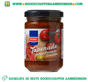 Tapenade zongedroogde tomaten aanbieding