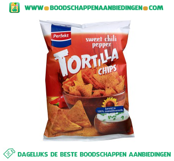 Perfekt Tortilla chips sweet chilli pepper aanbieding