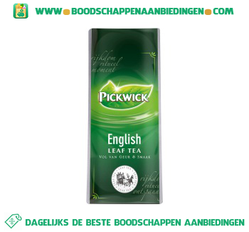 Pickwick English leaf tea aanbieding