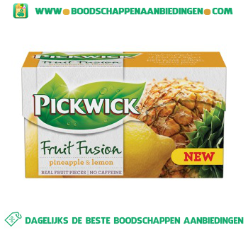 Pickwick Fruit fusion ananas/citroen 1-kops aanbieding