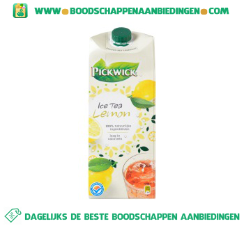 Pickwick Ice tea lemon aanbieding