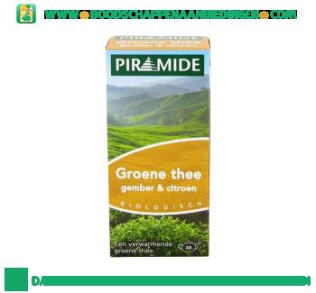 Piramide Groene thee gember & citroen aanbieding