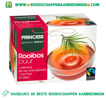Princess Rooibos thee aanbieding