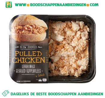 Pulled chicken aanbieding