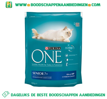Purina One cat senior kip/granen aanbieding
