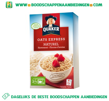 Quaker Oats express havermout naturel aanbieding