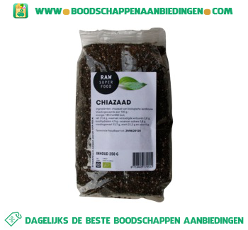 Raw Superfood Chiazaad aanbieding