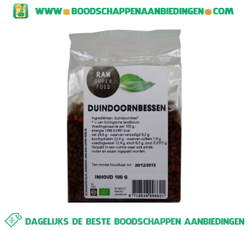Raw Superfood Duindoornbessen aanbieding