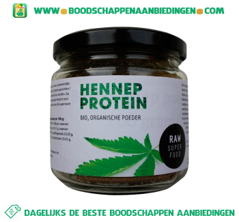 Raw Superfood Hennep protein poeder aanbieding