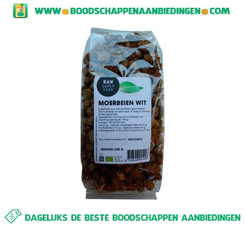 Raw Superfood Moerbeien wit aanbieding