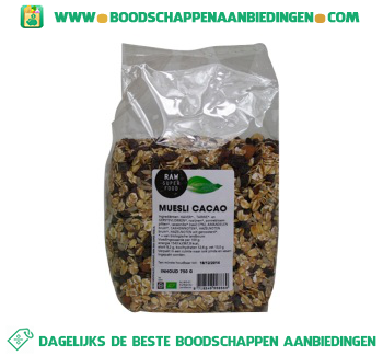 Raw Superfood Muesli cacao aanbieding
