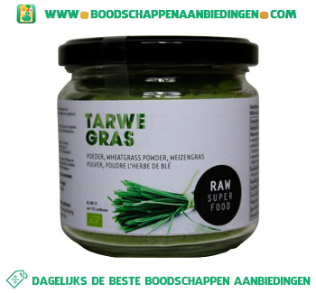 Raw Superfood Tarwegras poeder aanbieding