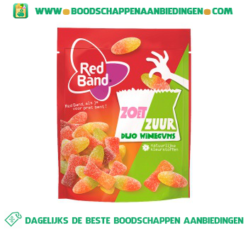 Red Band Zoet & zuur duo winegums aanbieding
